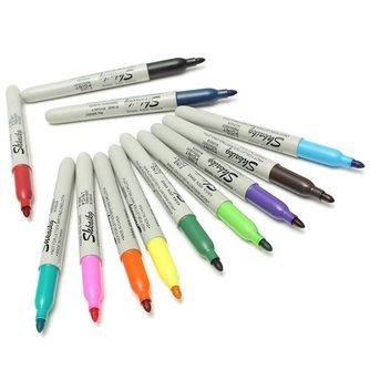 Gekleurde Permanente Stiften (12 Stuks)