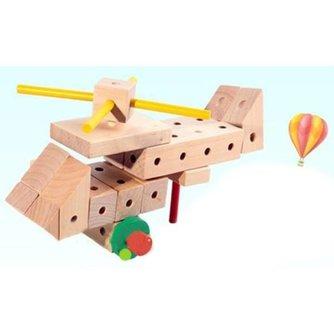 Houten Blokken Helikopter Speelgoed