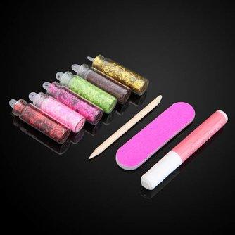 Nagellak Decoratieset met 6 Kleuren Glitter
