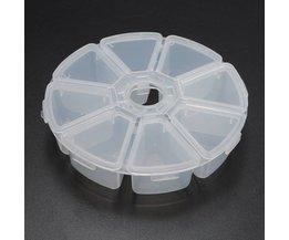 Plastic Ronde Opbergbox met 8 Vakjes