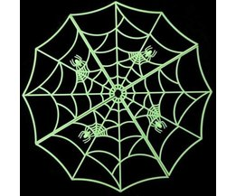 Glow in the dark Spinnenweb