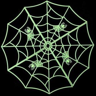 Glow in the dark Spinnenweb