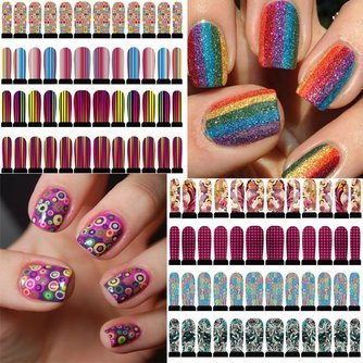 Kleurrijke Nail Art Stickers