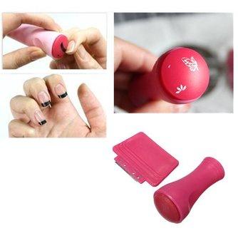 Roze Nagel Stempel Set