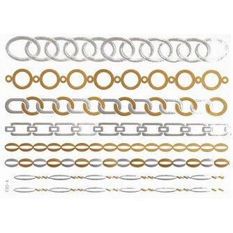 Gouden en Metallic Plaktatoeage