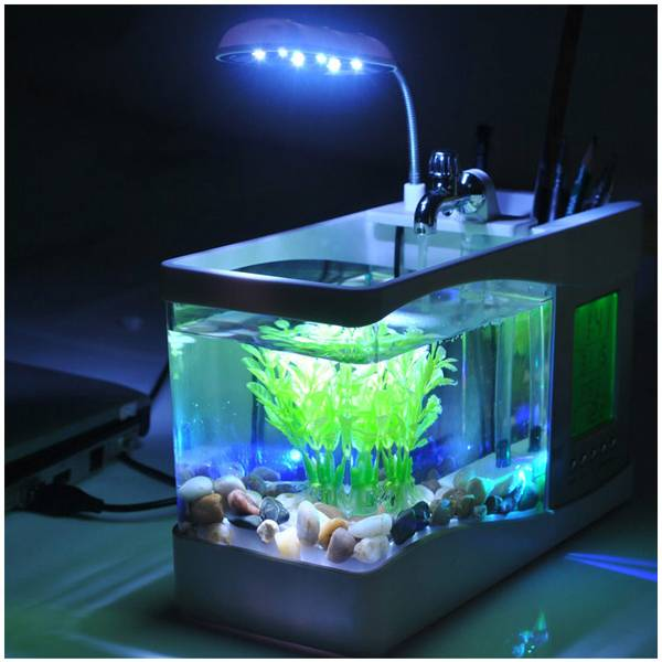 mini usb aquarium met led