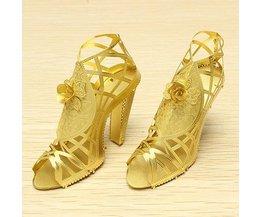 Piececool 3D Puzzel Gouden Schoenen met Hak