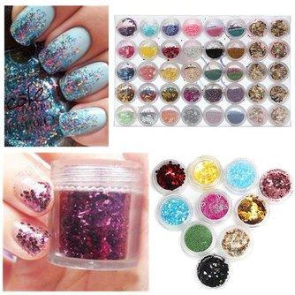 80-Delige Glitter Decoratieset voor je Nagels