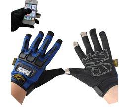 Motorhandschoenen met touchscreen-functie