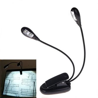 LED Klemlamp met Twee Armen voor Muziekstandaard