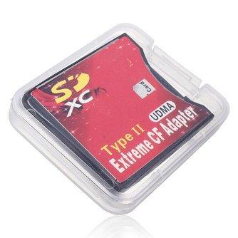 SD SDHC SDXC naar CF Type II Geheugenkaart Adapter