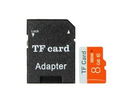 8GB Micro SD TF Kaart met Adapter