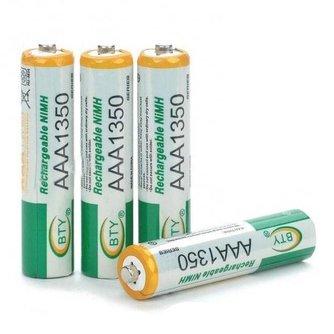 AAA Oplaadbare Batterijen (4 stuks)