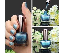 Blauwe Nagellak met Glitters
