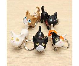 Sleutelhanger met Schattige Kat