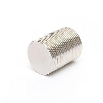 20 Stuks Super Neodymium Magneten 15mm x1mm Rond
