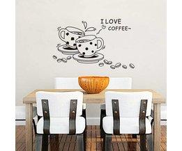 Behang Sticker Koffie