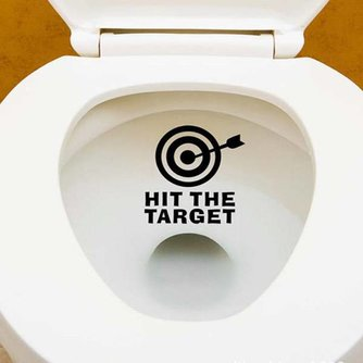 ''HIT THE TARGET'' WC Sticker