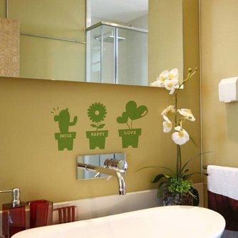 Plant in Pot Muur Sticker