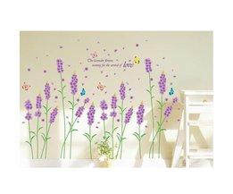 Muursticker Met Afbeelding Lavendel