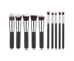 10-Delige Synthetische make-Up Kwasten Set