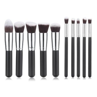 10-Delige Synthetische make-Up Kwasten Set