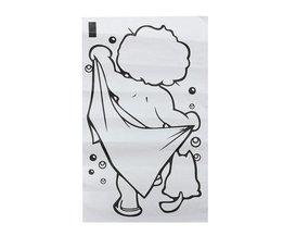 Muursticker Douchende Baby