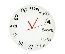 Klok met Wiskunde Ontwerp