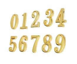Goudkleurig Huisnummerbordje