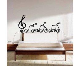 Wandsticker met Muzieknoten
