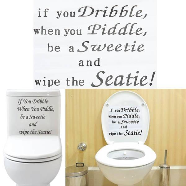 Decoratie voor Deksel Toilet