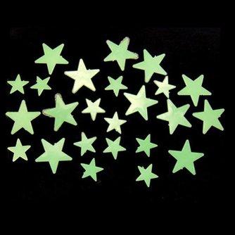 Glow in the Dark Sterren Muurstickers (35 Stuks)