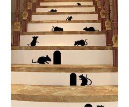 Muursticker met Muis en Gat