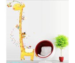 Leuke Giraffe-Muursticker