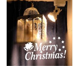 Kerst Raamdecoratie Sticker Merry Christmas