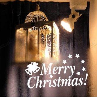 Kerst Raamdecoratie Sticker Merry Christmas