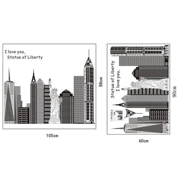 Decoratie Stickers met Skyline van New York
