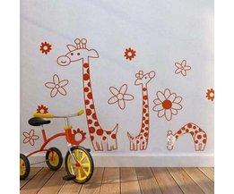 PVC Muursticker Giraffe
