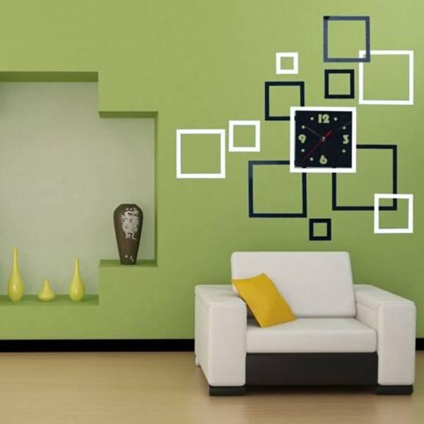 Decoratie woonkamer sticker klok online bestellen i for Decoratie woonkamer