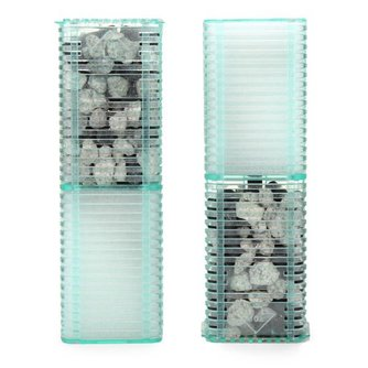 Aquariumfilter van Plastic en Steen
