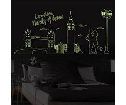 Goedkope Muurstickers Londen Fluorescerend