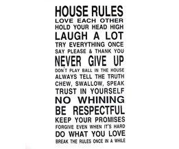 Muursticker Huisregels