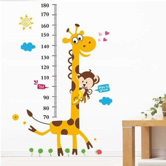 Groeimeter met Giraffe Sticker
