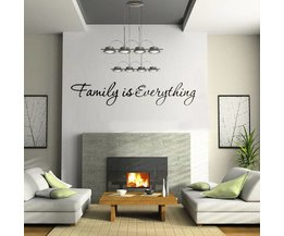 Muurteksten Woonkamer Family is Everything