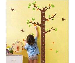 Meetlat Sticker Voor Kinderkamer
