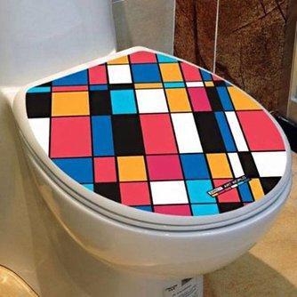 Waterdichte Kleurrijke WC-Sticker