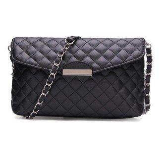 Zwarte Clutch Tas met Schouderband