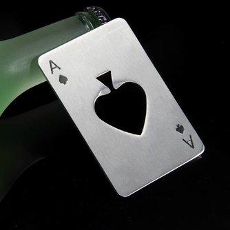 Fles Opener Poker Kaart
