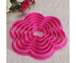 Bloem Cakevorm van Plastic 6 Stuks