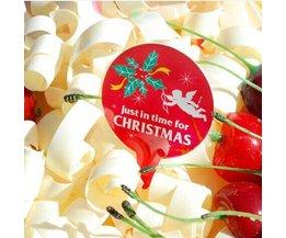 Kerstkaartjes met Engel voor Cupcakes